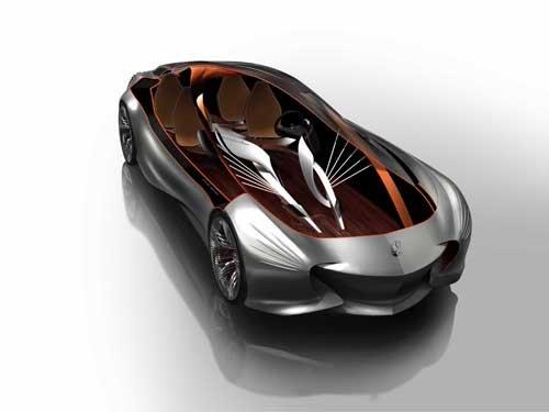 "Mercedes-Benz Aria Concept Design Car Poster Print on 10 mil Archival Satin Paper 36"" x 24"""