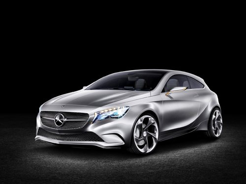"Mercedes-Benz A-Class Concept  Car Poster Print on 10 mil Archival Satin Paper 36"" x 24"""
