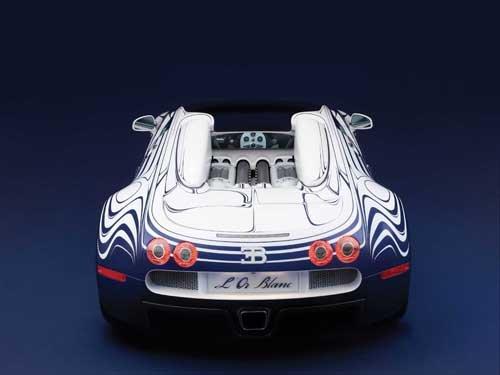 "Bugatti  Veyron Grand Sport L'Or Blanc Car Poster Print on 10 mil Archival Satin Paper 20"" x 15"""