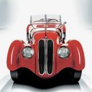 "BMW 328 (1936) Car Poster Print on 10 mil Archival Satin Paper 24"" x 18"""