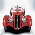"BMW 328 (1936) Car Poster Print on 10 mil Archival Satin Paper 32"" x 24"""