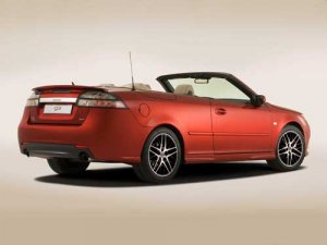"""Saab 9-3 Convertible Independence Edition Car Poster Print on 10 mil Archival Satin Paper 36"""" x 24"""""""