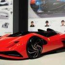 "Ferrari World Design Contest Car Poster Print on 10 mil Archival Satin Paper 32"" x 22"""