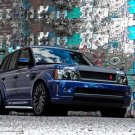 "Range Rover Sport Bali Blue Miyagi Edition Car Poster Print on 10 mil Archival Satin Paper 16"" x 12"""