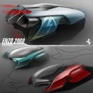 "Ferrari Enzo 2060 Concept Car Poster Print on 10 mil Archival Satin Paper 20"" x 20"""