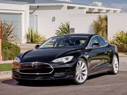 "Tesla Alpha Model S Car Poster Print on 10 mil Archival Satin Paper 16"" x 12"""