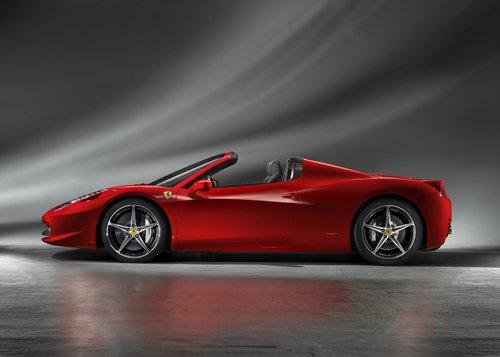 "Ferrari 458 Spider (2013) Car Poster Print on 10 mil Archival Satin Paper 16"" x 12"""