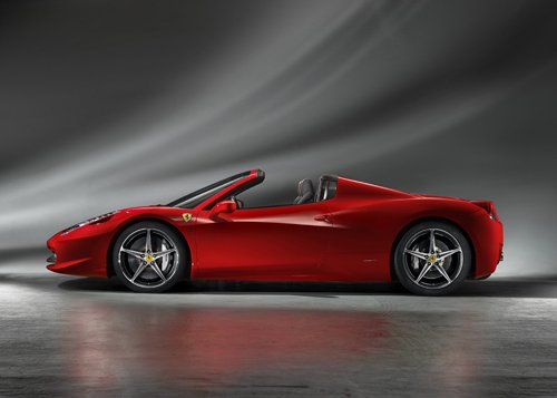 "Ferrari 458 Spider (2013) Car Poster Print on 10 mil Archival Satin Paper 36"" x 24"""