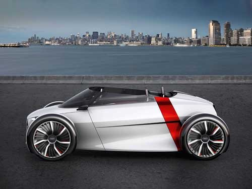 "Audi Urban Concept Car Poster Print on 10 mil Archival Satin Paper 24"" x 18"""