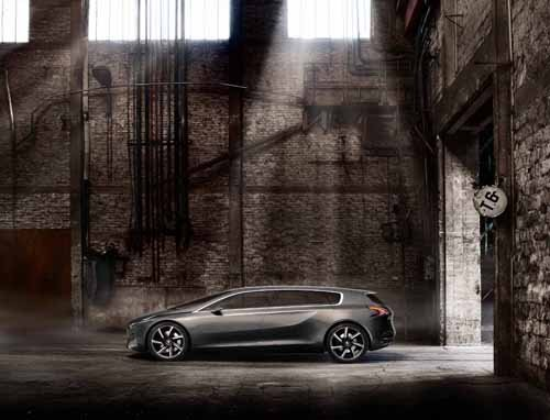 "Peugeot HX1 Concept Car Poster Print on 10 mil Archival Satin Paper 24"" x 18"""