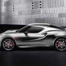 "Alfa Romeo 4C Fluid Metal Concept (2011) Car Poster Print on 10 mil Archival Satin Paper 30"" x 20"""
