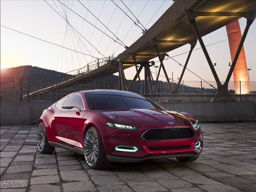 """Ford Evos Concept (2012) Car Poster Print on 10 mil Archival Satin Paper 36"""" x 24"""""""