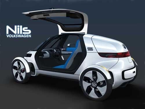 "Volkswagen Nils Concept Car Poster Print on 10 mil Archival Satin Paper 16"" x 12"""