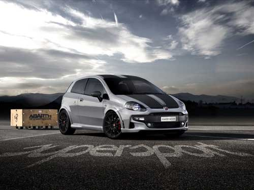 """Fiat Abarth Punto SuperSport (2012) Car Poster Print on 10 mil Archival Satin Paper 16"""" x 12"""""""