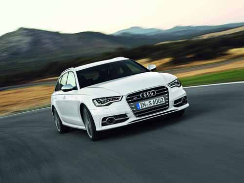"Audi S6 Avant (2012) Car Poster Print on 10 mil Archival Satin Paper 36"" x 24"""