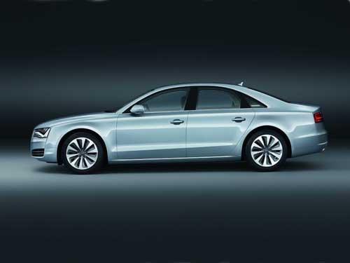 "Audi A8 Hybrid (2012) Car Poster Print on 10 mil Archival Satin Paper 16"" x 12"""