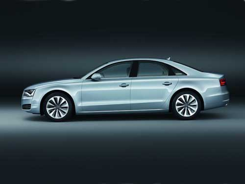 "Audi A8 Hybrid (2012) Car Poster Print on 10 mil Archival Satin Paper 20"" x 15"""