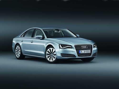 "Audi A8 Hybrid (2012) Car Poster Print on 10 mil Archival Satin Paper 36"" x 24"""