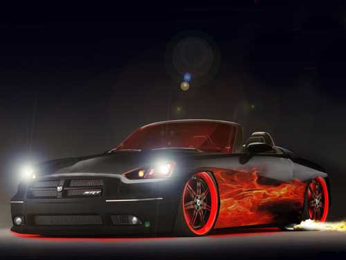 "Dodge Demon SRT Custom Car Poster Print on 10 mil Archival Satin Paper 16"" x 12"""