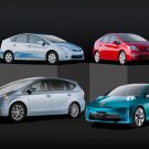 "Toyota Prius c Concept Car Poster Print on 10 mil Archival Satin Paper 24"" x 16"""