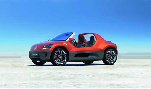 """Volkswagen Buggy UP Concept Car Poster Print on 10 mil Archival Satin Paper 20"""" x 15"""""""