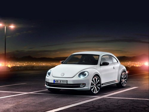 "Volkswagen New Beetle Coupe (2012) Car Poster Print on 10 mil Archival Satin Paper 36"" x 24"""