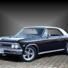 "Chevrolet Chevelle Super Sport 396 (1966) Car Poster Print on 10 mil Archival Satin Paper 36"" x 24"""
