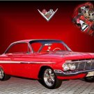 "Chevrolet Impala 348 (1962) Car Poster Print on 10 mil Archival Satin Paper 30"" x 20"""