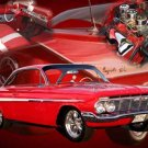 "Chevrolet Impala Collage (1962) Car Poster Print on 10 mil Archival Satin Paper 30"" x 20"""