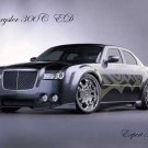 "Chrysler 300C Custom Car Poster Print on 10 mil Archival Satin Paper 16"" x 12"""