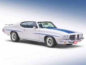 "Pontiac LeMans GT (1972) Car Poster Print on 10 mil Archival Satin Paper 36"" x 24"""