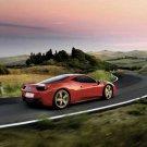 "Ferrari 458 Italia Car Poster Print on 10 mil Archival Satin Paper 24"" x 18"""