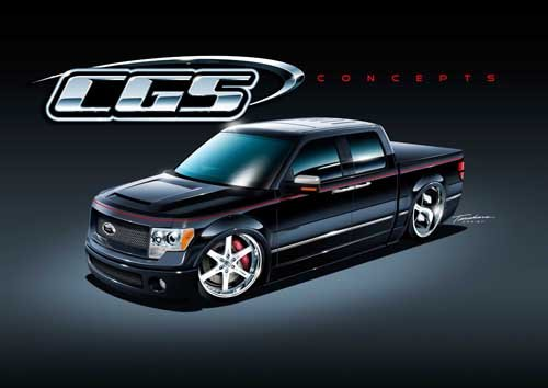 """Ford F-150 SEMA Edition Concept Truck Poster Print on 10 mil Archival Satin Paper 24"""" x 18"""""""
