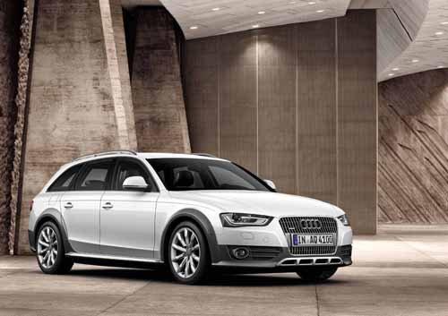 "Audi A4 Allroad Quattro (2012) Car Poster Print on 10 mil Archival Satin Paper 16"" x 12"""