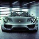 "Porsche 918 Spyder Concept Car Poster Print on 10 mil Archival Satin Paper 36"" x 24"""