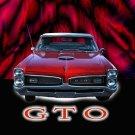 "Pontiac GTO (1966) Car Poster Print on 10 mil Archival Satin Paper 16"" x 12"""