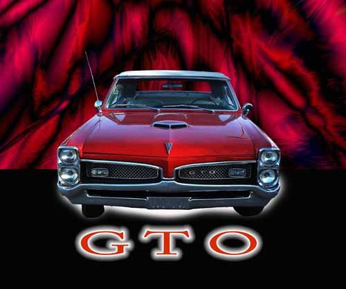 "Pontiac GTO (1966) Car Poster Print on 10 mil Archival Satin Paper 36"" x 24"""