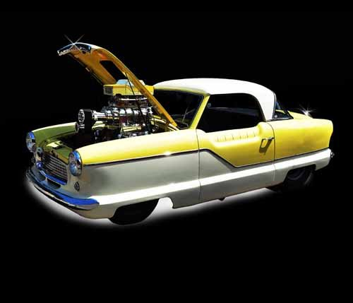 "Nash Metropolitan (1957) Car Poster Print on 10 mil Archival Satin Paper 20"" x 15"""