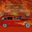 "Oldsmobile Wagon (1953) Car Poster Print on 10 mil Archival Satin Paper 36"" x 24"""