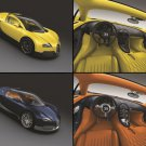 "Bugatti Veyron Grand Sport  Dubai Montage Car Poster Print on 10 mil Archival Satin Paper 16""x12"""
