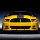 "Ford Mustang GT Boss 302 (2013) Car Poster Print on 10 mil Archival Satin Paper 36"" x 24"""