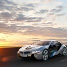 "BMW i8 Concept Car Poster Print Car Poster Print on 10 mil Archival Satin Paper 24"" x 18"""