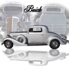 """Buick Coupe (1934) Car Poster Print on 10 mil Archival Satin Paper 36"""" x 24"""""""