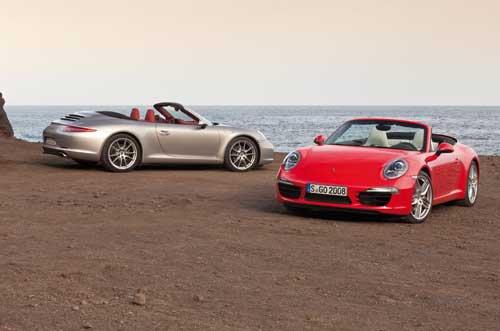 "Porsche 911 Cabriolet (2012) Car Poster Print on 10 mil Archival Satin Paper 20"" x 15"""