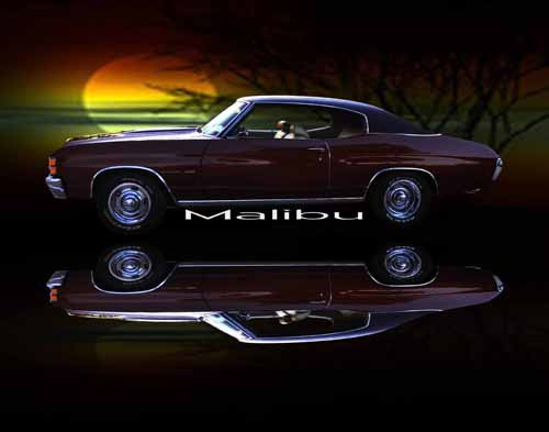 "Chevrolet Chevelle Malibu (1973) Car Poster Print on 10 mil Archival Satin Paper 20"" x 15"""
