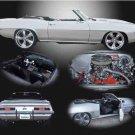 """Chevrolet Camaro (1969) Custom Car Poster Print on 10 mil Archival Satin Paper 20"""" x 15"""""""