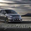 "Fiat 500 Abarth 595 Competizione Car Poster Print on 10 mil Archival Satin Paper 20"" x 15"""