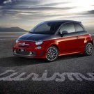 """Fiat 500 Abarth 595 Turismo Car Poster Print on 10 mil Archival Satin Paper 20"""" x 15"""""""
