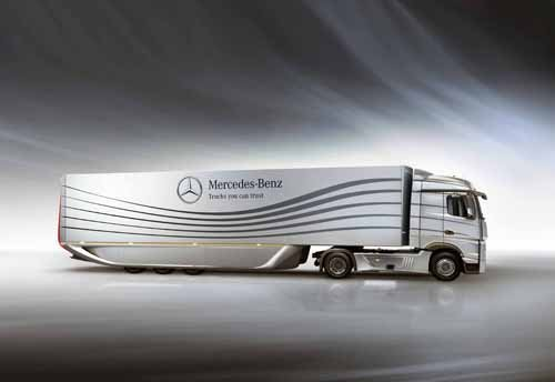 "Mercedes-Benz Aero Trailer Concept Truck Poster Print on 10 mil Archival Satin Paper 16"" x 12"""