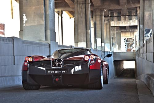 "Pagani Huayra Car Poster Print on 10 mil Archival Satin Paper 36"" x 24"""